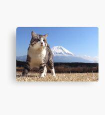 Cat and Mount Fuji Canvas Print