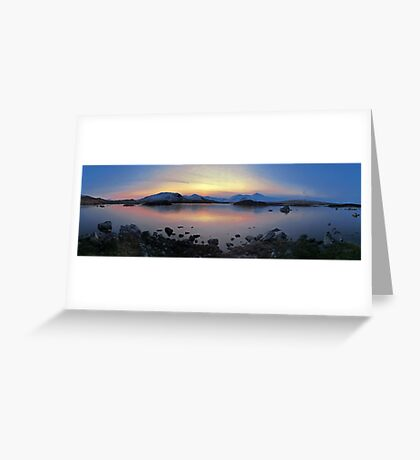 Icy Sunset in the Scottish Highlands Greeting Card