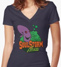 OddWorld - Soulstorm Brewery Women's Fitted V-Neck T-Shirt