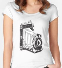 Retro Camera 01 Women's Fitted Scoop T-Shirt