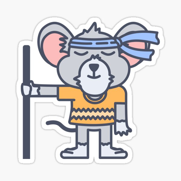 Mouse Ninja Sticker
