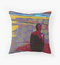 Man in the Road Throw Pillow
