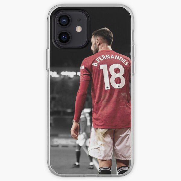 Bruno Fernandes Manchester United 2020/21 Funda blanda para iPhone