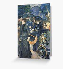 Renoir Auguste - The Umbrellas. Auguste Renoir Umbrellas Greeting Card