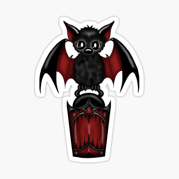 Fledermaus Laterne Sticker