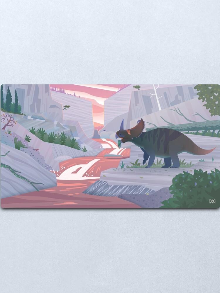 Alternate view of Centrosaurus Canyon Metal Print