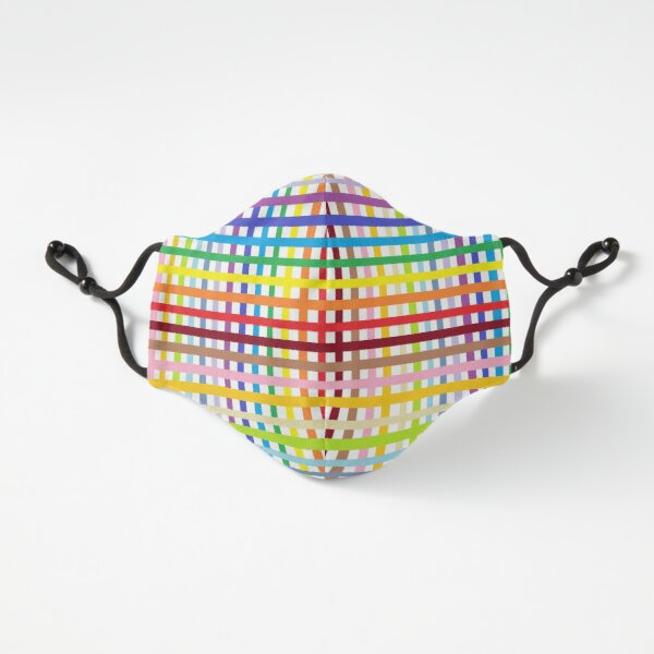 Fitted Masks, Multicolored stripes Fitted 3-Layer