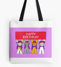 Red Hat cats Tote Bag