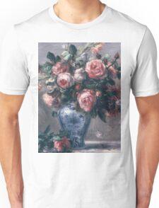 Renoir Auguste - Vase Of Roses Unisex T-Shirt