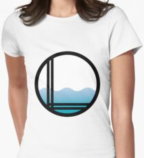 Lonely Ocean Logo Women's Fitted T-Shirt