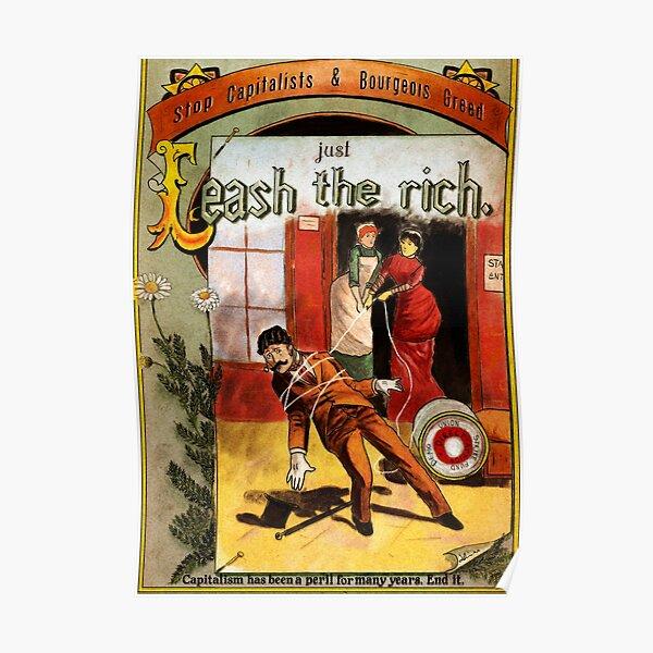 Chopez les riches ! Action anticapitaliste Poster
