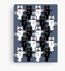 MARCHING CATS Canvas Print