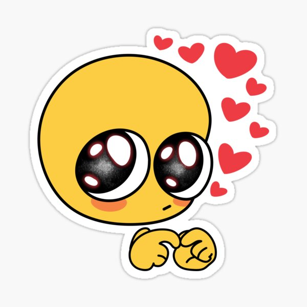 Emoji tímido Pegatina
