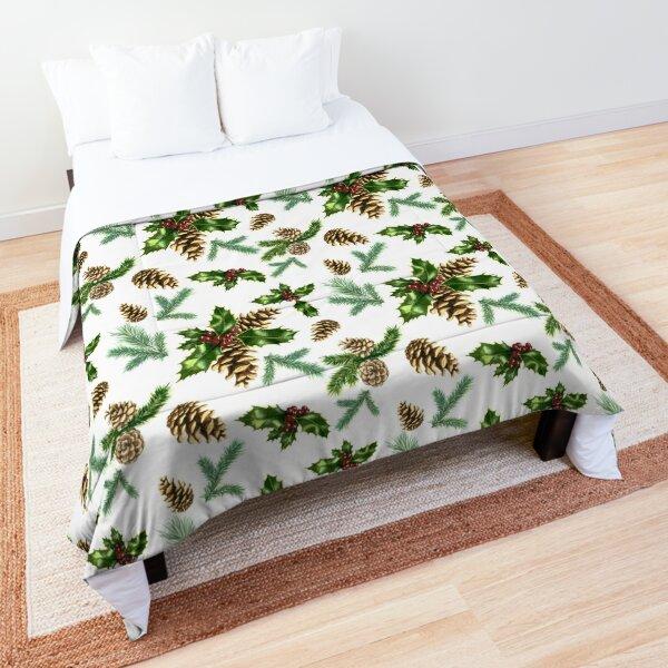 Watercolor Christmas pattern Comforter
