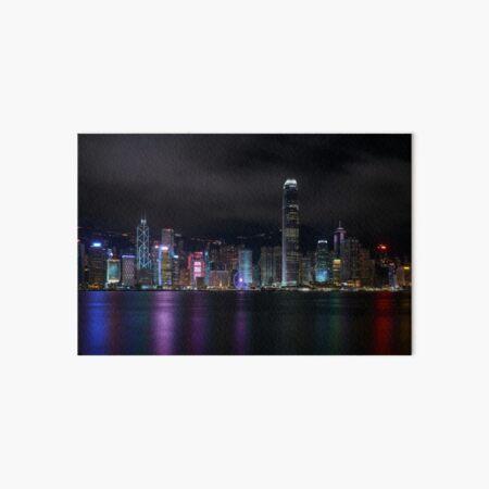 Hong Kong Nighttime Skyline Art Board Print