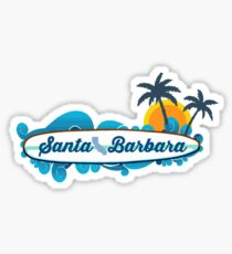 Santa Barbara - California. Sticker