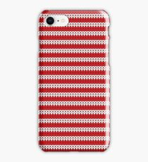 White & Red Knitted iPhone Case/Skin
