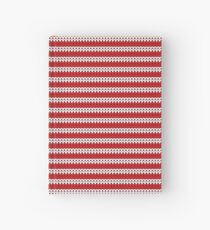 White & Red Knitted Hardcover Journal