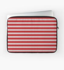 White & Red Knitted Laptop Sleeve