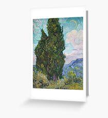 Vincent Van Gogh - Cypresses .  Van Gogh - Cypresses  Greeting Card