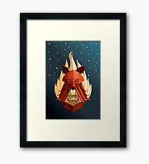 The Sly Counselor Framed Print