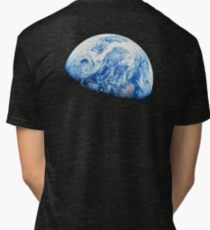 EARTH, PLANET, SPACE, Blue planet, Earthrise, Apollo 8, 1968 Tri-blend T-Shirt