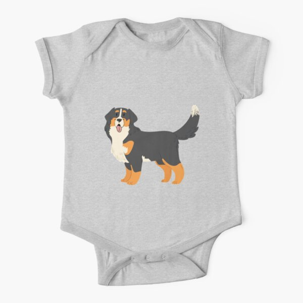 Bernese Mountain Dog Short Sleeve Baby One-Piece