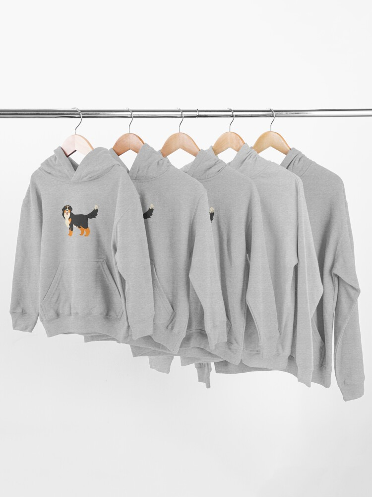 Alternate view of Bernese Mountain Dog Kids Pullover Hoodie