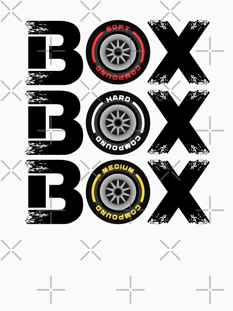 Box Box Box F1 Tyre Compound V2 Design by davidspeed