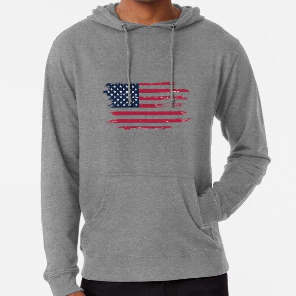 USA scribble Drapeau Unisexe à Capuche Haut Cadeau États-Unis L/'Amérique