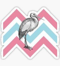 Stork Chevron Sticker