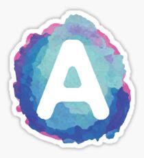 Letter A Watercolor Sticker