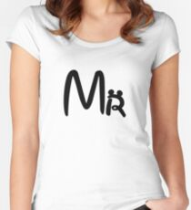 Honeymoon Mr and Mrs T-shirts Women's Fitted Scoop T-Shirt