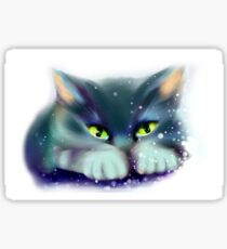 Cat playing with snow Sticker