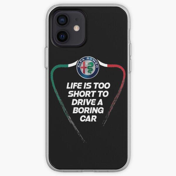 La vie est trop courte pour conduire une voiture ennuyeuse - Alfa TriColore Coque souple iPhone