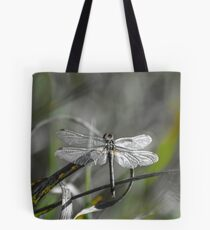 Dragonfly silver metal Tote Bag