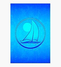 Blue Sailboat Photographic Print
