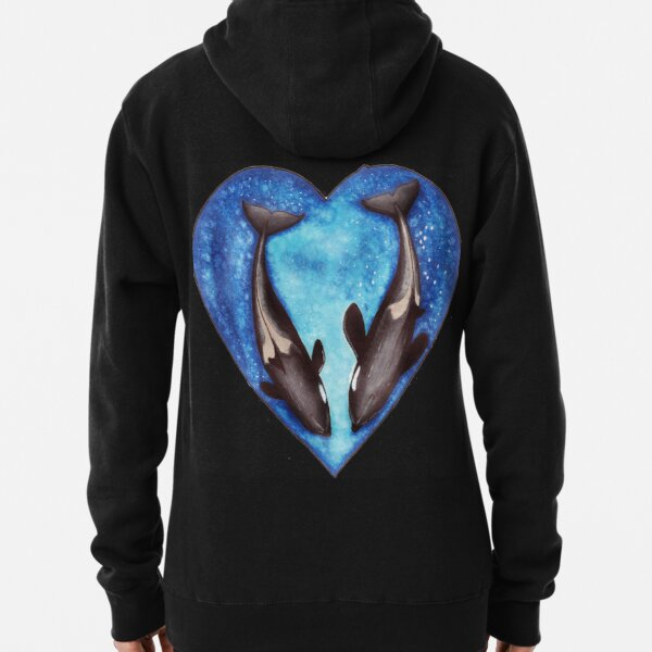 Valentine's Orca's  Pullover Hoodie