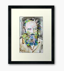 FYODOR DOSTOYEVSKY - watercolor portrait.6 Framed Print