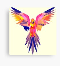 Low-Poly Tropical Bird Canvas Print