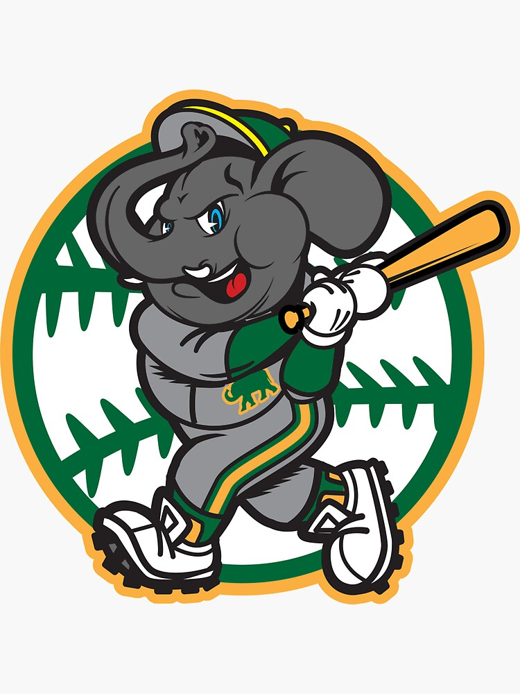 Oakland A's Elephant Baseball by OrganicGraphic
