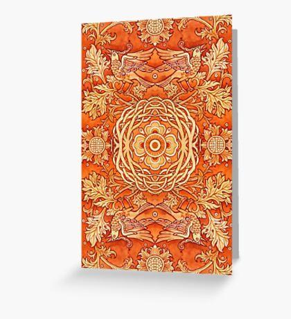 - Golden pattern - Greeting Card