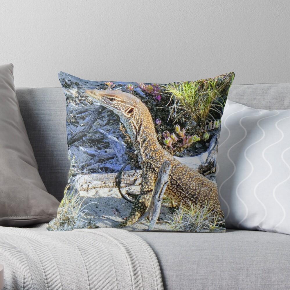 Perentie Australian Lizard Throw Pillow