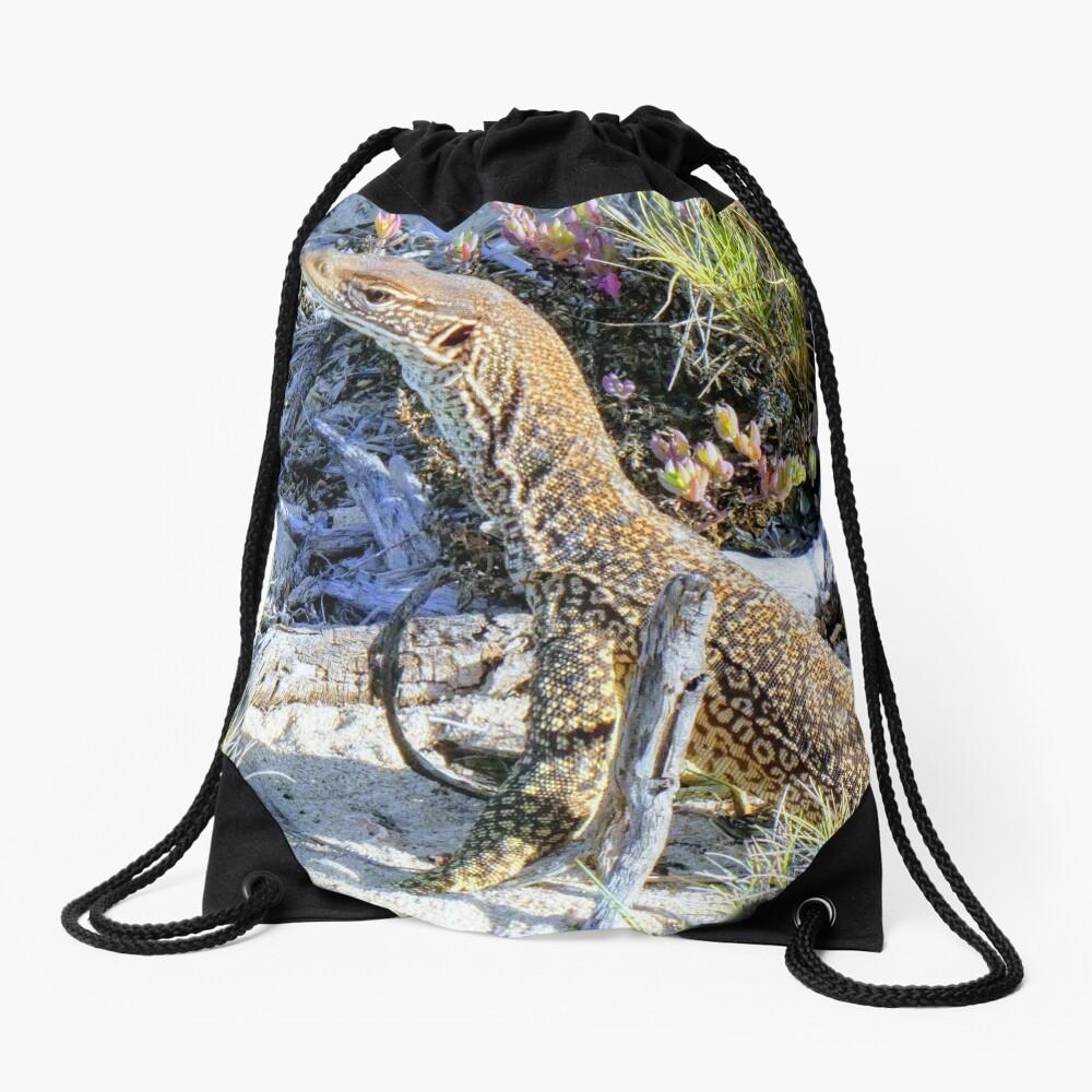 Perentie Australian Lizard Drawstring Bag