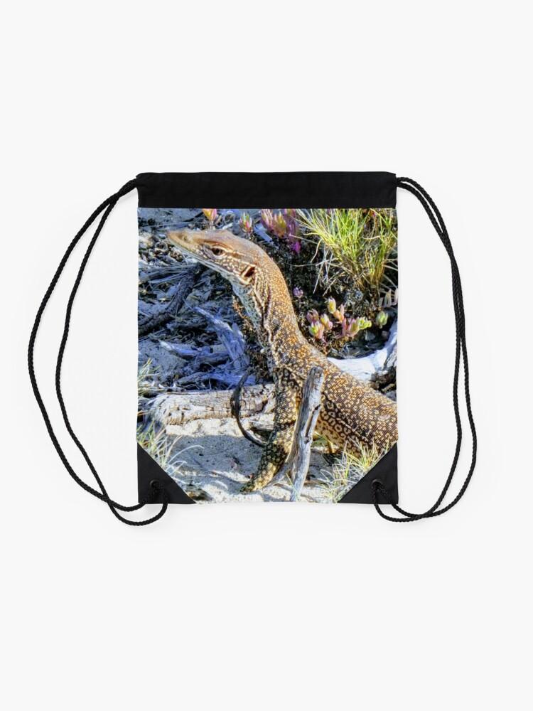 Alternate view of Perentie Australian Lizard Drawstring Bag