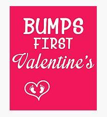 Bump's First Valentine 2 White Photographic Print