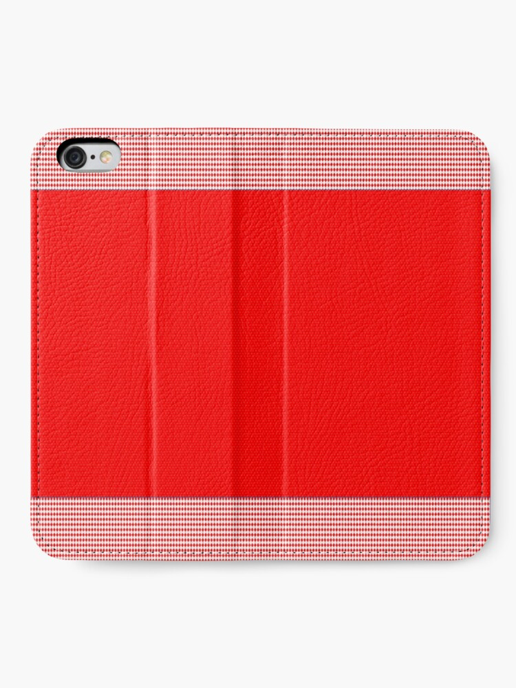 Alternate view of Red hot design with trim  iPhone Wallet