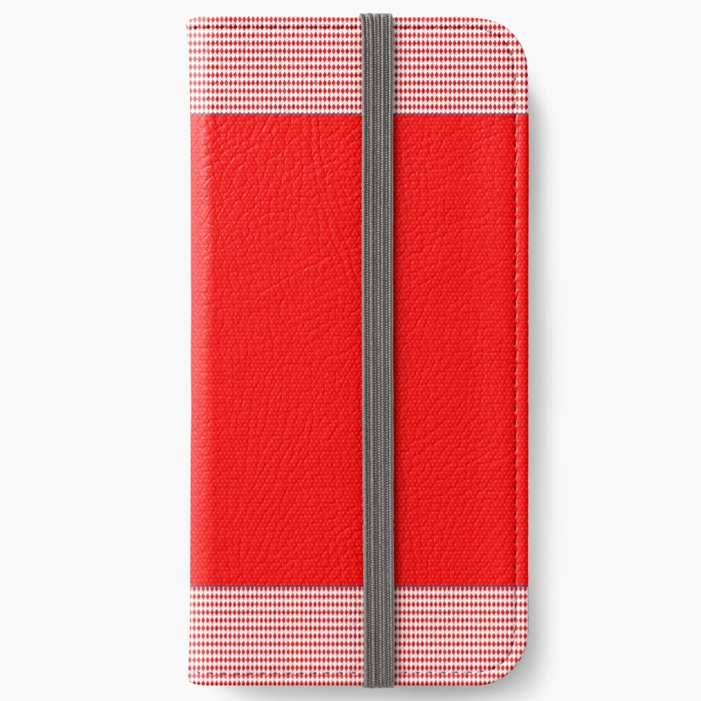 Red hot design with trim  iPhone Wallet