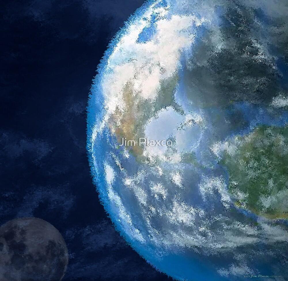 Earth and Moon Digital Art by Jim Plaxco