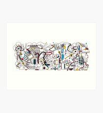Mechanical abstraction No 1 Art Print